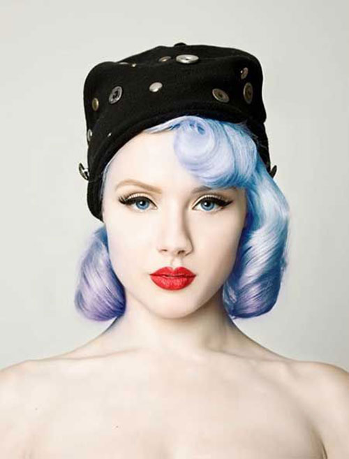 2015 Short Blue Hair Color Trends