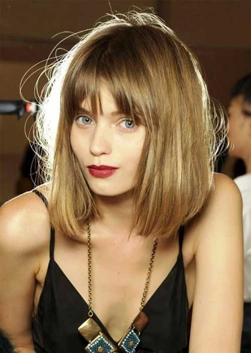 Abbey Lee Kershaw Bob Hair with Bangs