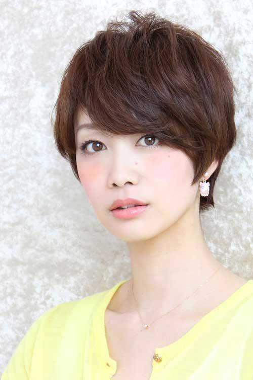 Asian Medium Length Pixie Cut