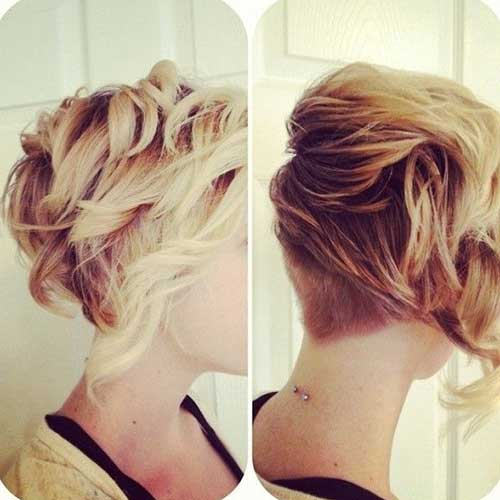 Back Undercut Wavy Curls for Short Hairstyles
