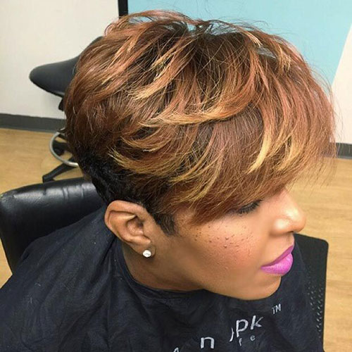 Black Women Short Highlighted Haircuts