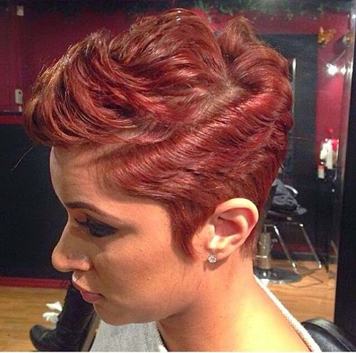 Black Women Short Red Hairstyles