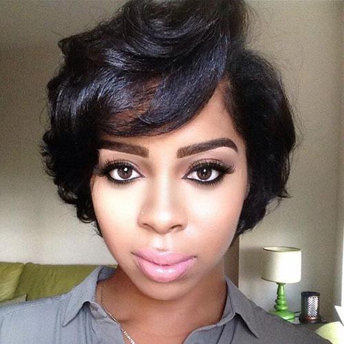 Black Women Short Straight Hairstyles