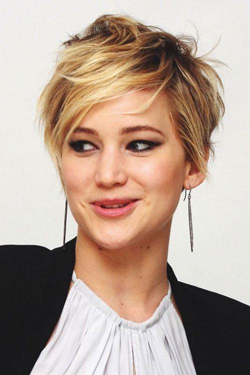 Blonde Hair Layered Pixie Haircuts