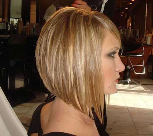 Inverted Bob Haircut with Bangs