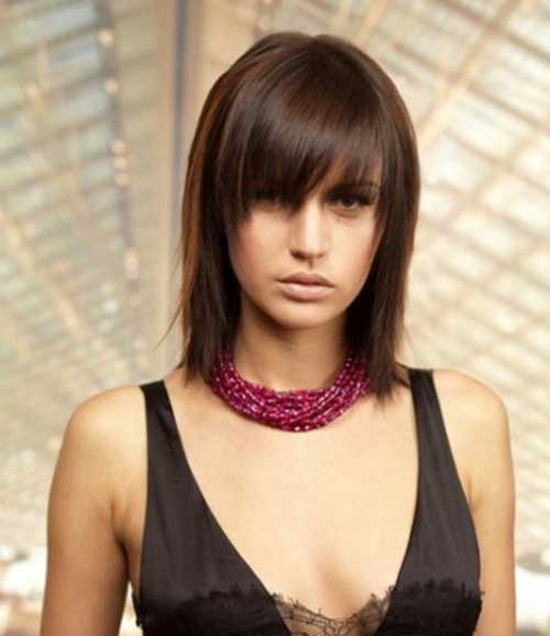 Trendy Bob Hairstyle with Bangs Pictures