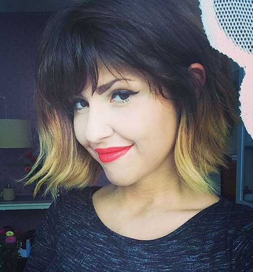 Ombre Bob with Bangs