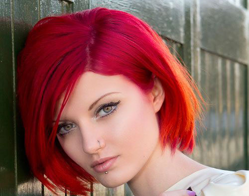 Bright Red Short Hair Trends 2015