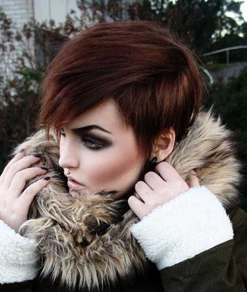 Best Casual Thick Pixie Haircut for Girls
