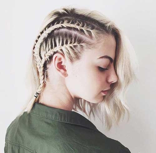 Cool Braided Short Womes Hair