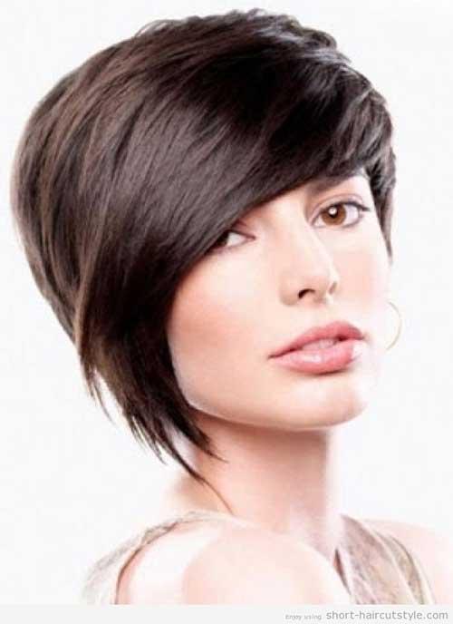 Cute Girls Asymmetrical Short Haircut