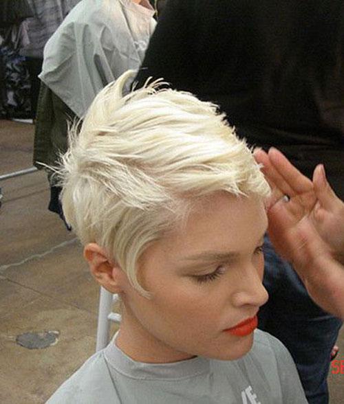 Cute Platinum Blonde Pixie Haircuts