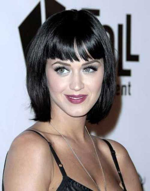 Best Dark Bob with Bangs