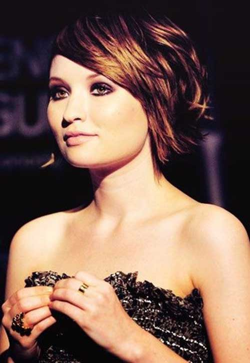 Emily Browning Celebrity Short Hairstyles