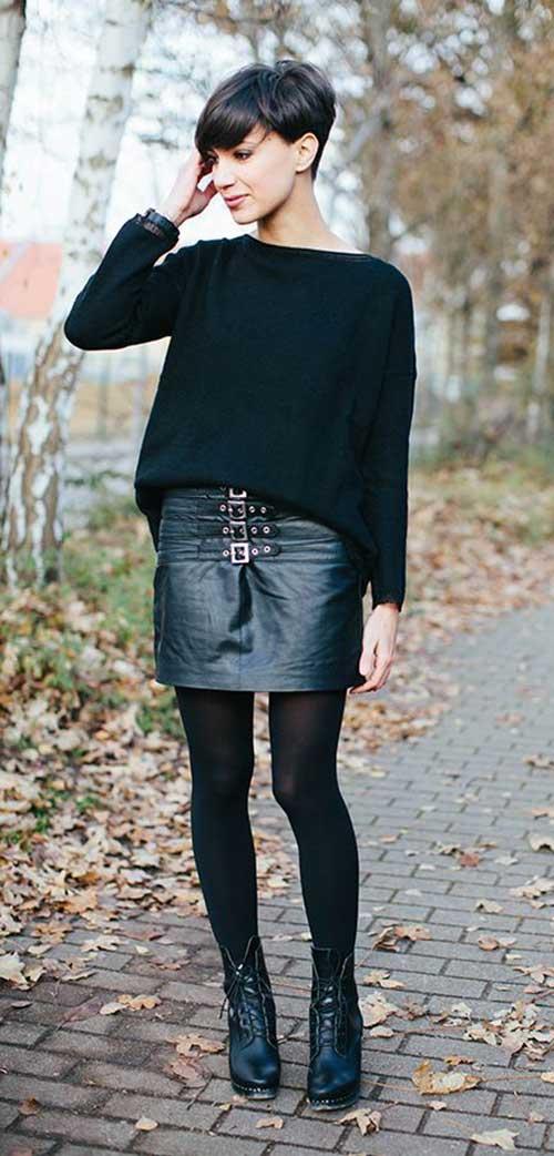 Fashionable Black Pixie Cuts Ideas