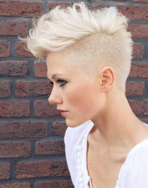 Female Mohawk Super Short Hair Styles