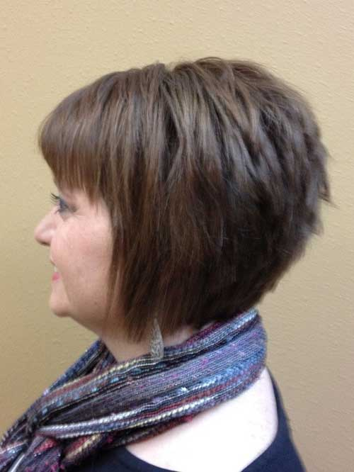 Best Graduated Bob Style Haircut with Bangs