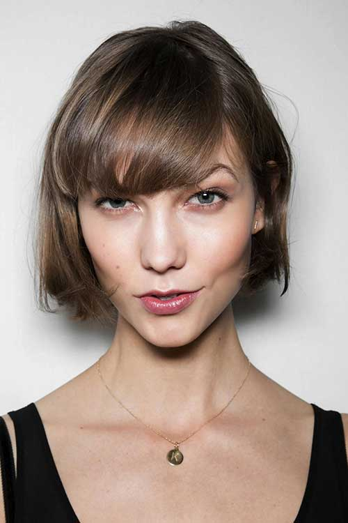 Lovely Hairstyles for Bob Cuts with Bangs