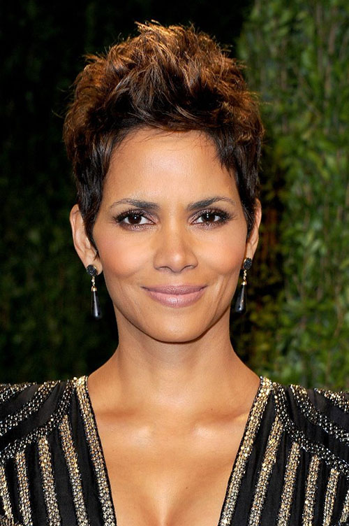 Halle Berry Brown Hair Pixie Cuts