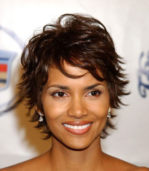 Halle Berry Choppy Layered Short Hairstyles