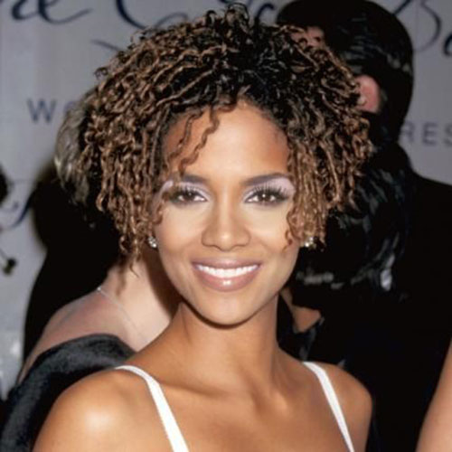 Halle Berry Natural Short Haircut
