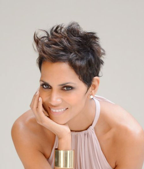 Magnificent Halle Berry Short Hairstyles For Hair Hairstyles Pictures Hairstyles For Men Maxibearus