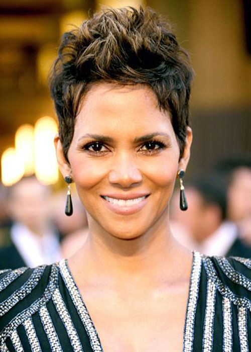 Haircut short halle berry