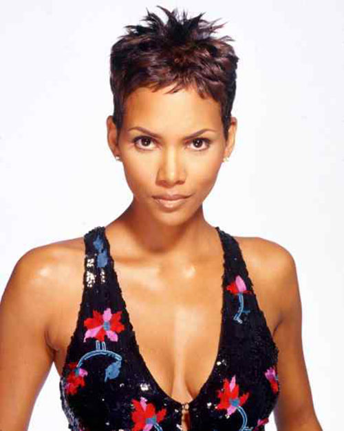 Halle Berry Spiky Short Haircuts