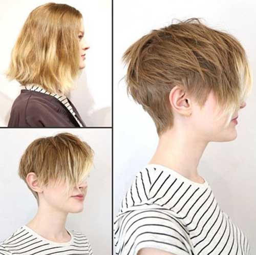 Haircuts Medium Length Pixie Cut further Ear Length Hairstyles With ...
