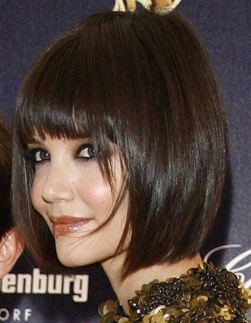 Katie Holmes Bob Haircuts with Bangs