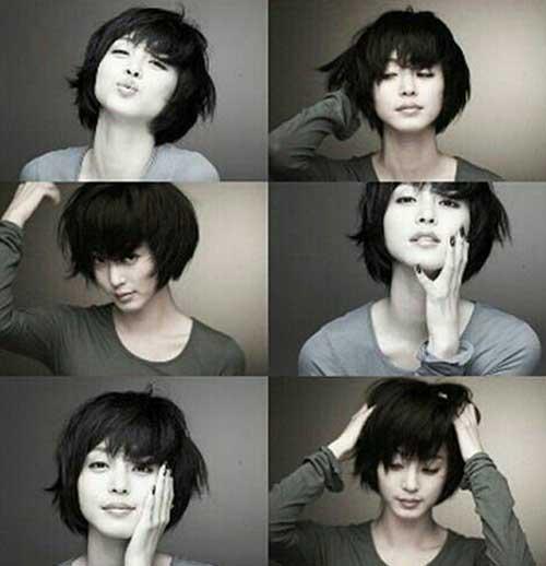 Korean Short Black Haircuts