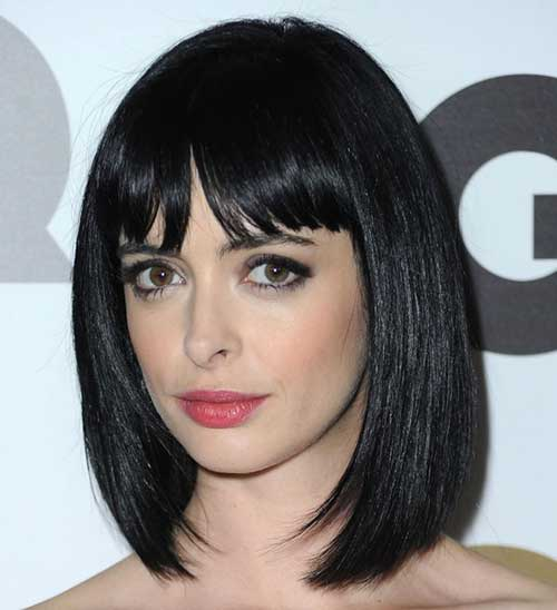 Chic Krysten Ritter Bob with Bangs