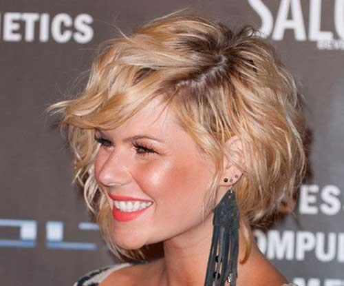 Layered Asymmetrical Wavy Short Hairstyles