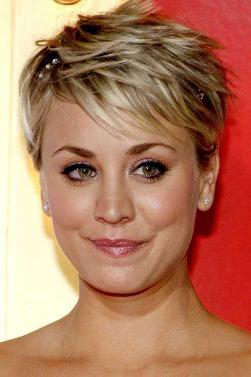 Layered Blonde Pixie Haircut