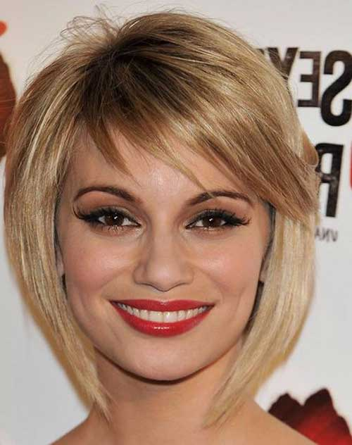 Best Layered Bob with Side Bangs
