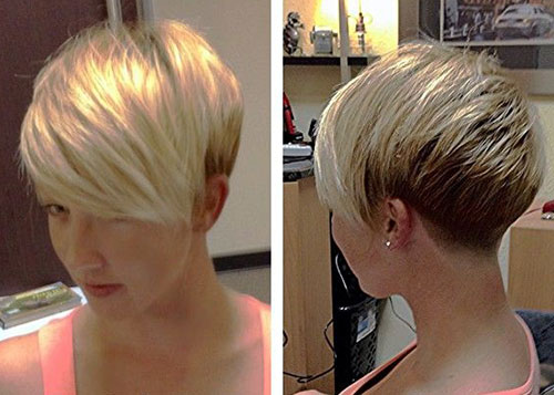 Long Bang Two Colored Pixie Cuts