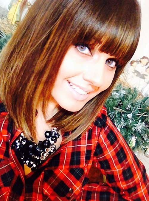 Bob Haircut With Bangs The Best Short Hairstyles For