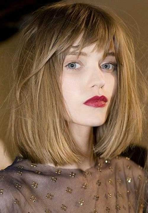 Long Bob with Fringe Bangs
