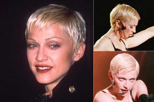 Madonna Short Blonde Hair