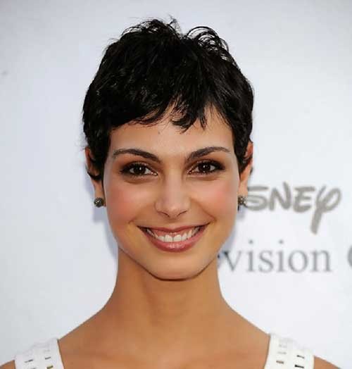 Morena Baccarin Short Black Hair