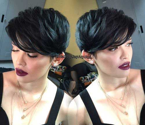 Best Pixie Hairstyles with Thick Hair and Dark Color