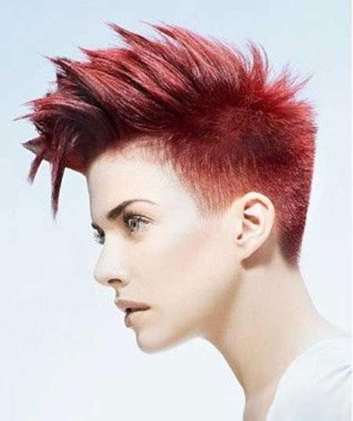 Red Mohawk Short Hair Trends 2016