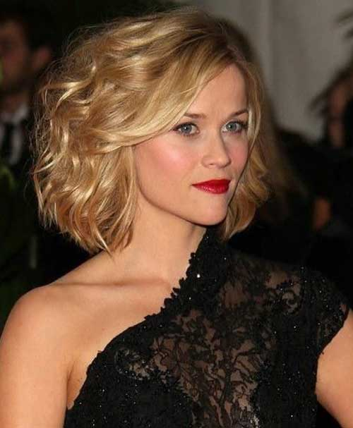 Reese Witherspoon Curly Bob Hairstyle