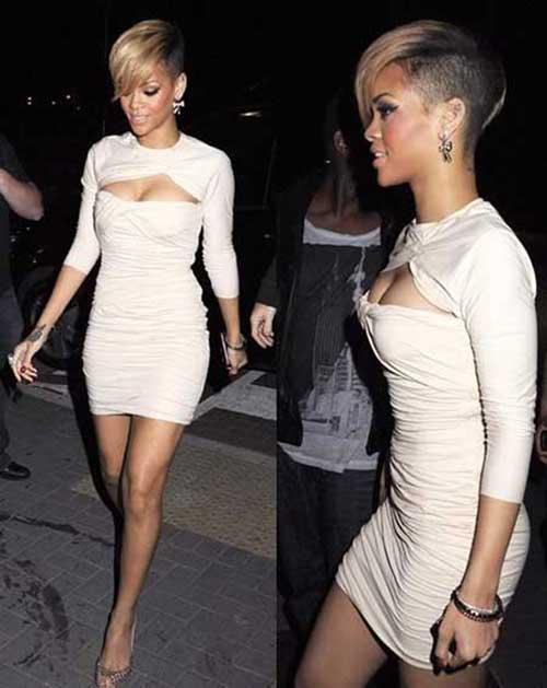 Rihanna Short Blonde Hairstyles