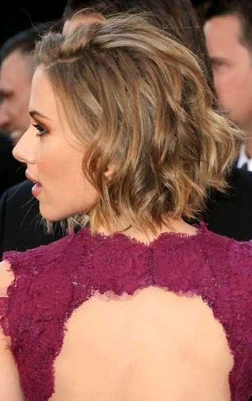 Scarlett Johansson Wavy for Short Hairstyles