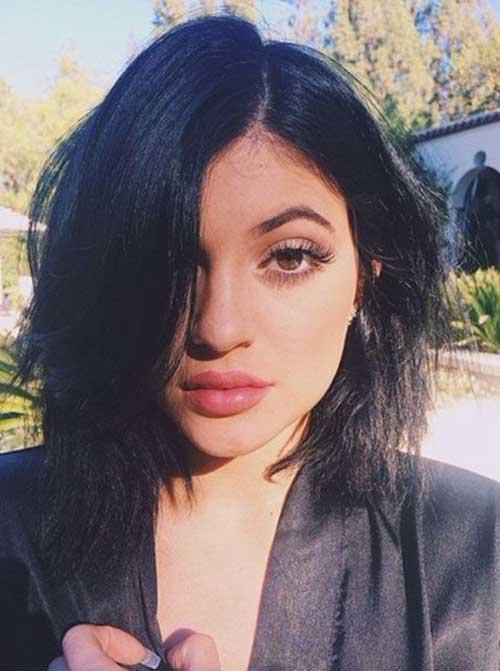 Kylie Jenner Short Black Hair Styles