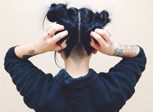 Short Black Hair Two Bun Styles
