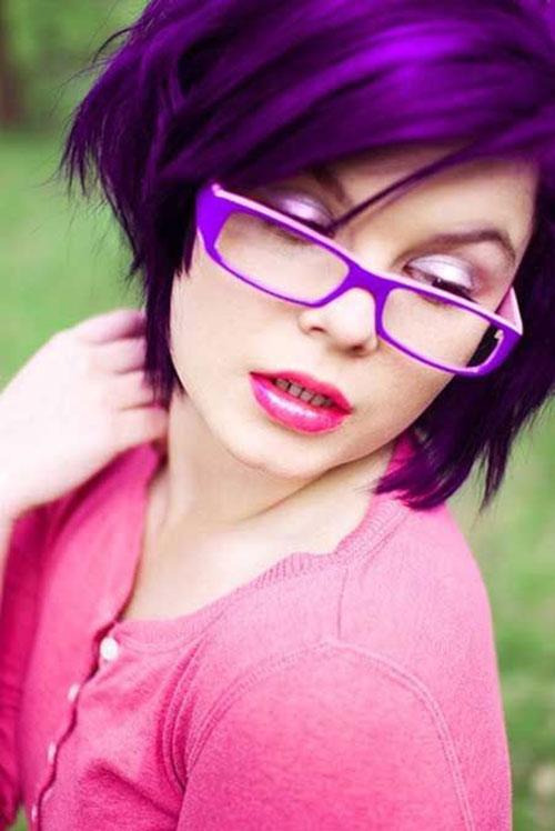 Short Blue Velvet Hair Color Trends 2015