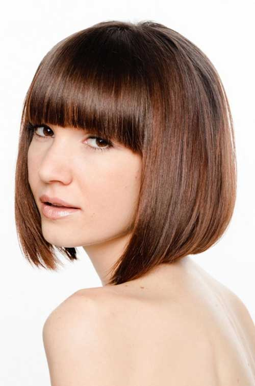 Classy Short Bob Haircuts and Hairstyles with Bangs