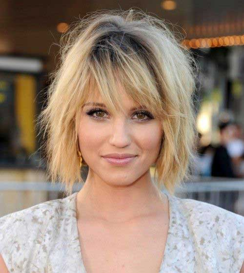 Best Short Choppy Haircuts for Round Faces 2014